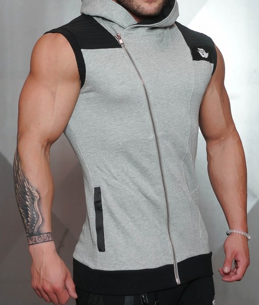 Body Engineers YUREI Sleeveless vest – LIGHT GREY