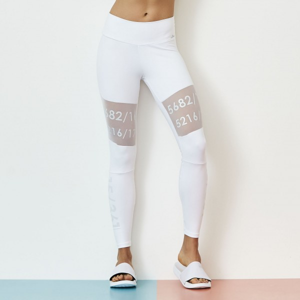 Fitness Legging Cajubrasil Number Blanco