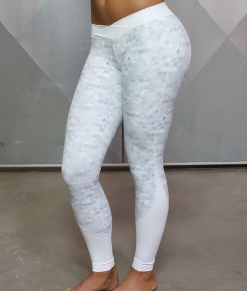 Body Engineers Athena GEOmetric  Legging White