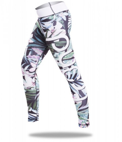 Sport Leggings TR3ND Flower BLK Gr S Letzte