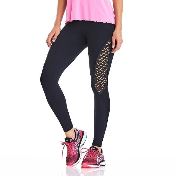 Fitness Legging Cajubrasil EMANA Laser Black