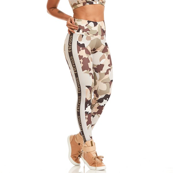 Fitness Legging Cajubrasil Fit Cross Camouflage