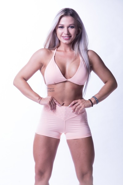 High Waist Short NEBBIA Salmon