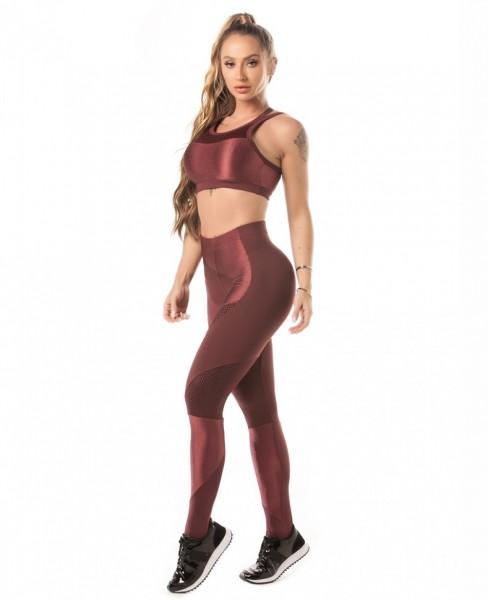 Fitness Leggings Vinho Glam LET´SGYM