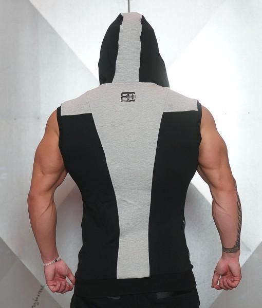 Body Engineers YUREI Sleeveless vest BLACK + GREY