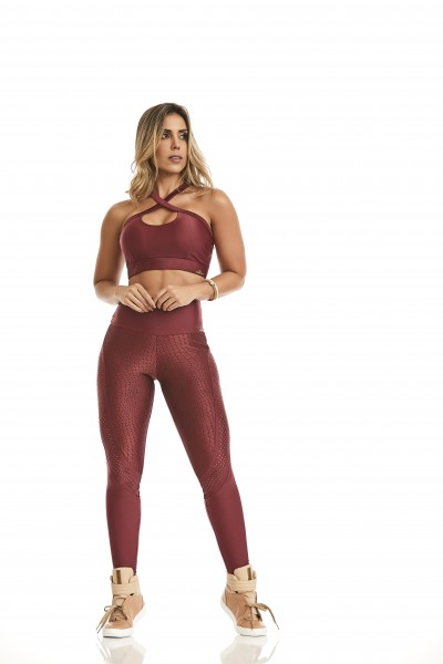 Fitness Legging Cajubrasil Atletika Posh Red
