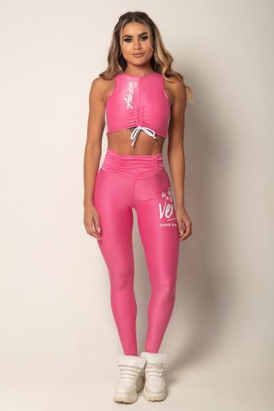 Fitness Leggings Victory Pink HIPKINI