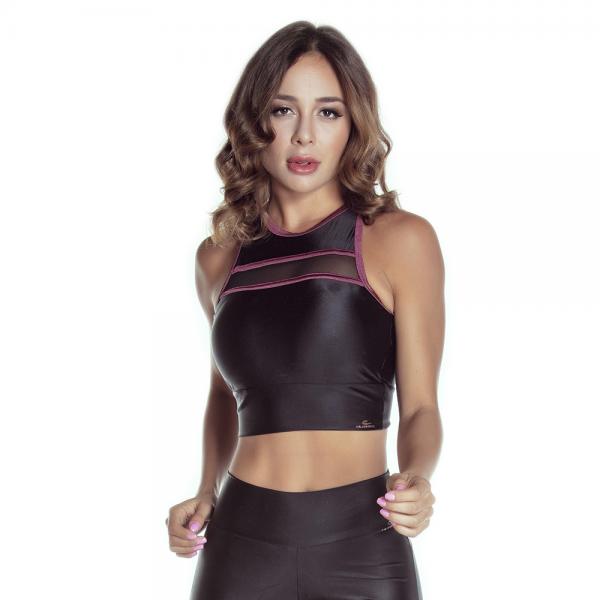 Fitness-Bra Cajubrasil Cropped ATLETIKA Black