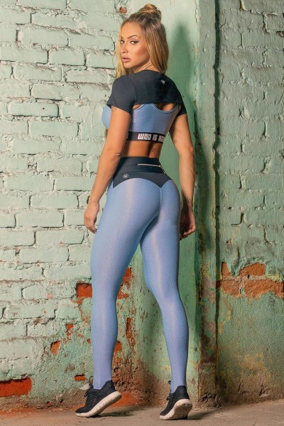 Sport Leggings Sweat Blue 4 HIPKINI
