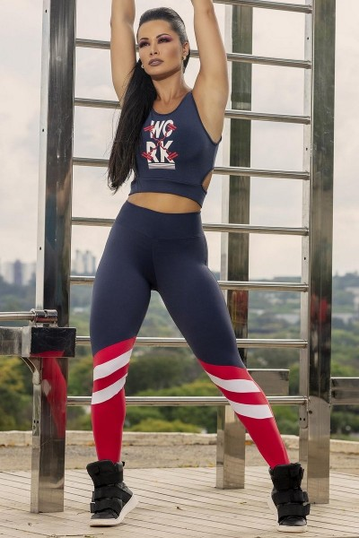 Set Sport Leggings Newspaper + Sport Bra HIPKINI