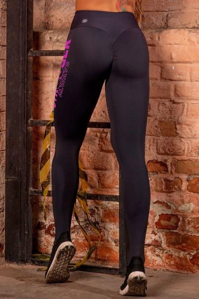 Scrunch Butt Leggings Sweat Black HIPKINI