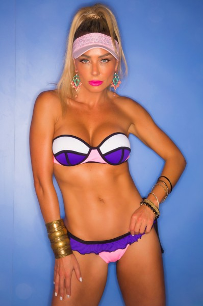 HIPKINI Bikini Set Tanzanita Bandeau