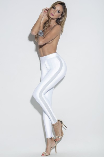 Party Leggings Weiss Glamour HIPKINI LIMITIERT