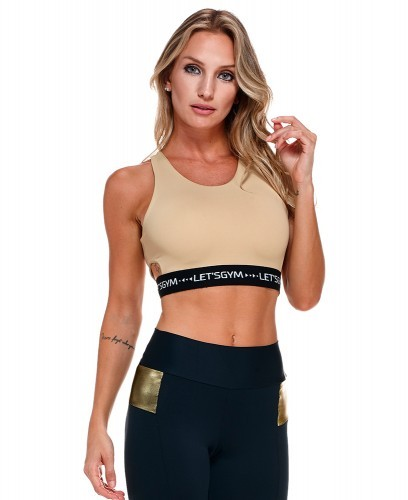 Cropped Top Luana Let´s Gym Beige
