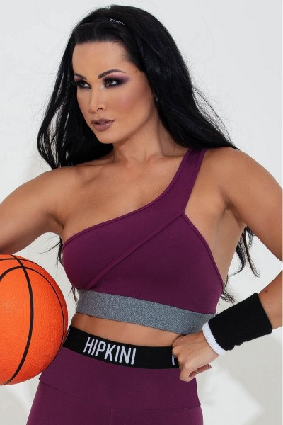 One Shoulder Top Playoff Fitness HIPKINI