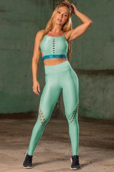Sport Leggings Sweat Green HIPKINI