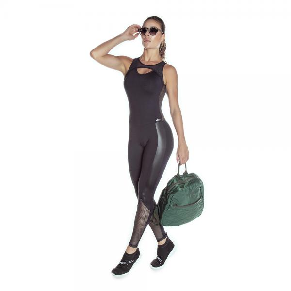 Fitness Jumpsuit EMANA Inspire Cajubrasil Black