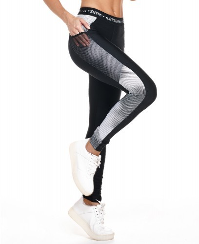 Leggings Fragment Let´s Gym White Gr. L