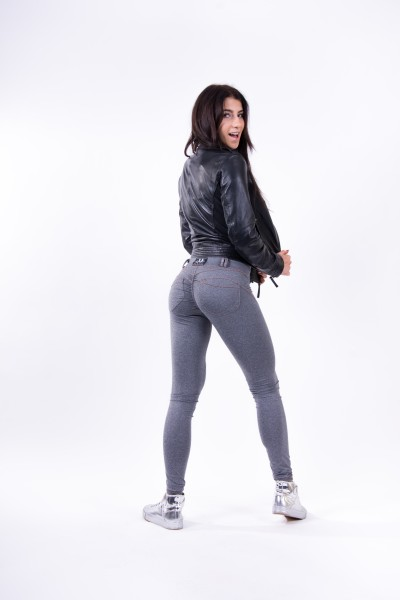 Bubble Butt Leggings Jeansfake Grey  NEBBIA