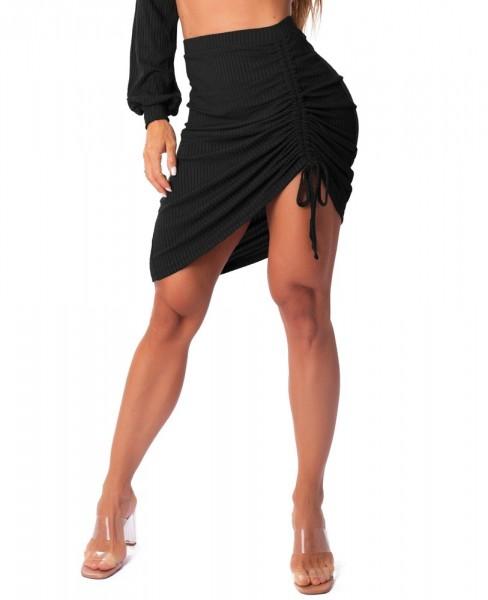 Ribbed Fashion Skirt Preto LET´SGYM