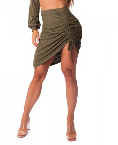 Ribbed Fashion Skirt Verde LET´SGYM