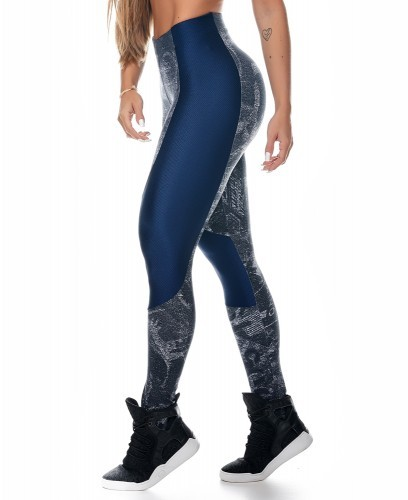 Azul Sport Leggings Let´s Gym