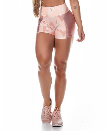 Camo Rose Sport Short Let´s Gym