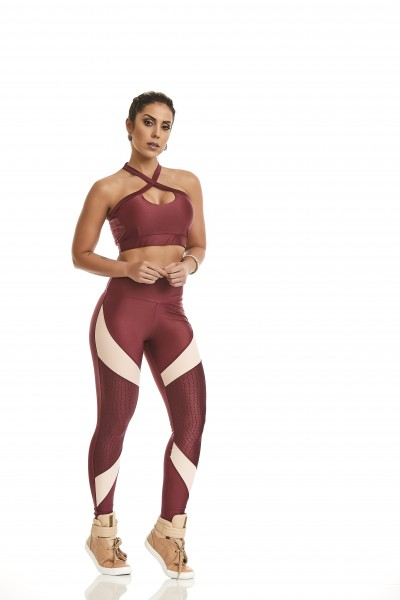 Fitness Legging Cajubrasil Atletika Supreme Red