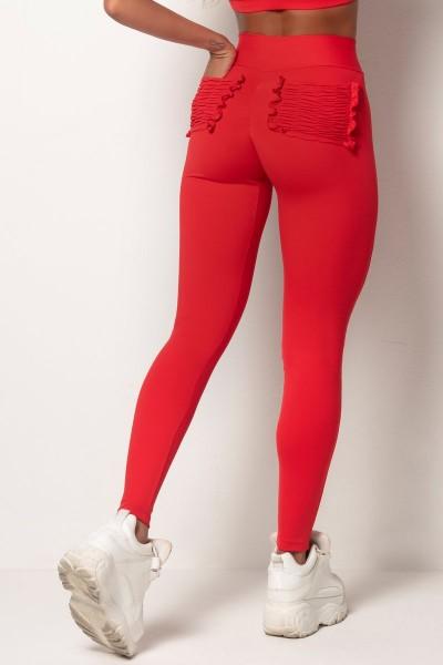 Scrunch Butt Leggings Red HIPKINI