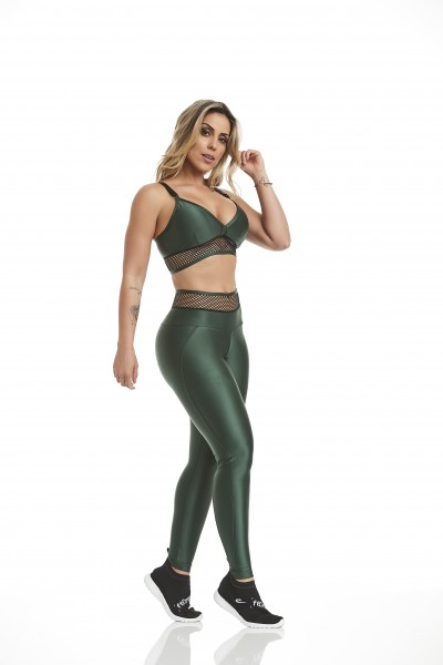 Fitness Legging Atletika Fashion Green Cajubrasil