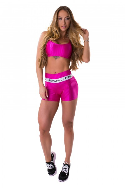Trainings-Short Pink LETSGYM Ikate