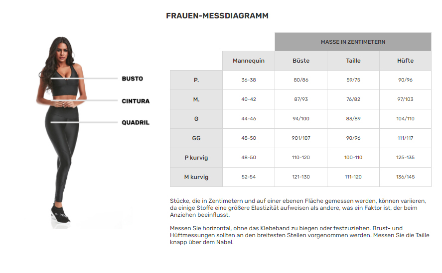 cajubrasil-size-chart