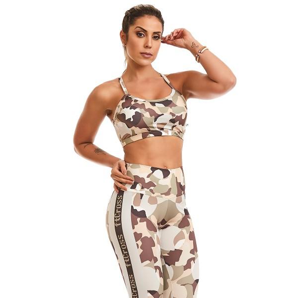 Fitness Top  Cajubrasil Crossfit Camouflage
