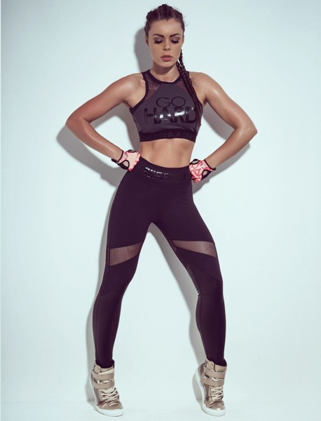 Fitness Leggings Insane All Black Superhot