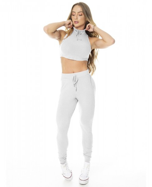 Leggings Cosy Light Grau LET´SGYM