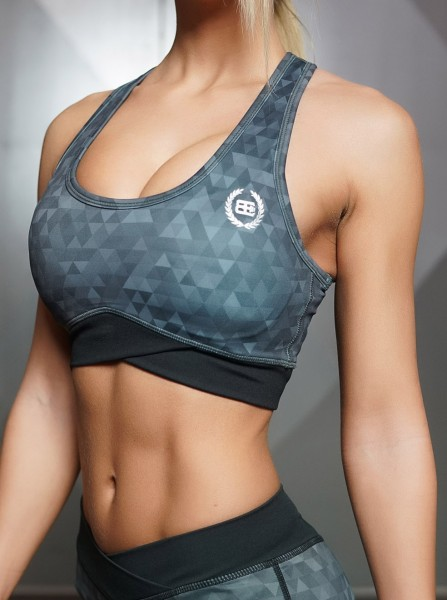 Body Engineers GEO Sports Bra – DARK GREY