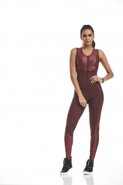 Fitness Jumpsuit Inspiration Cajubrasil Red