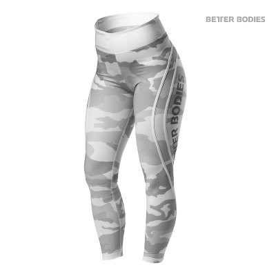 Better Bodies Sport Tight 7/8 Camo White