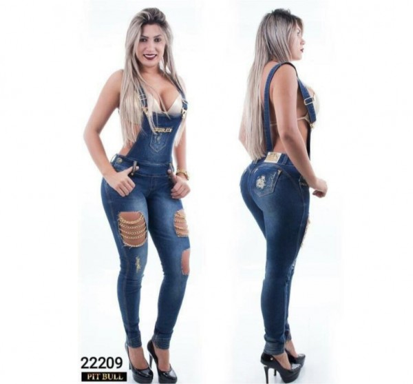 Pitbull Jeans Push-Up Overall Party Queen