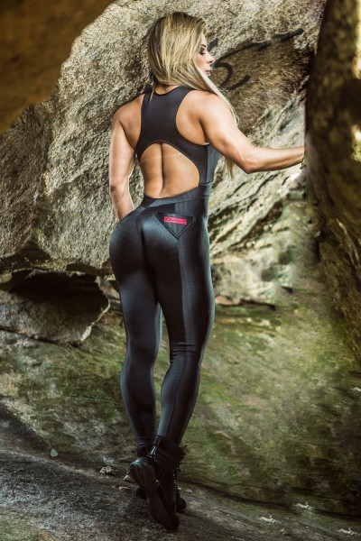 Fitness Overall Lava Black Dynamite