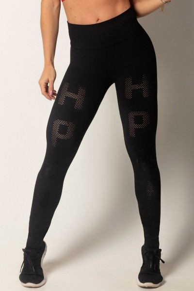 Schwarze Seamless Leggings EMANA HIPKINI