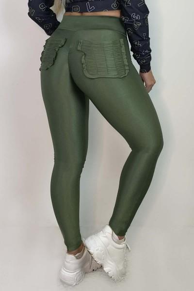 Scrunch Butt Leggings Irresistable Verde HIPKINI